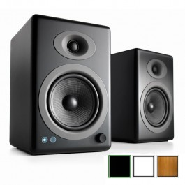 Audioengine A5+ Wireless, Aktiv 2.0 Lautsprecher mit Bluetooth (aptX HD)